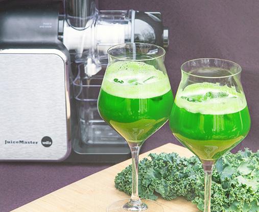 Ferskpresset grønn juice