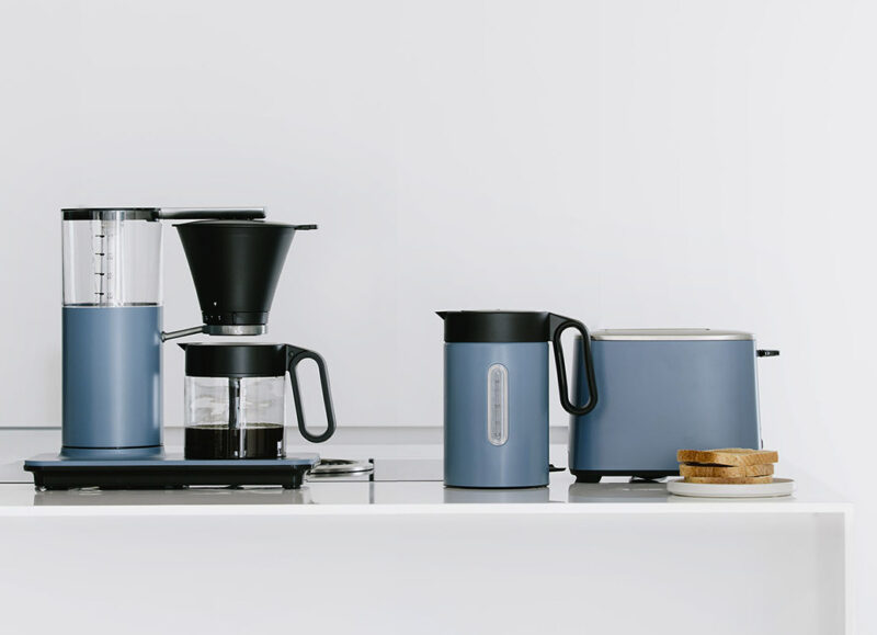 Wilfa Classic Longyear serie with toaster, cofeemaker and water kettle ib the kithen